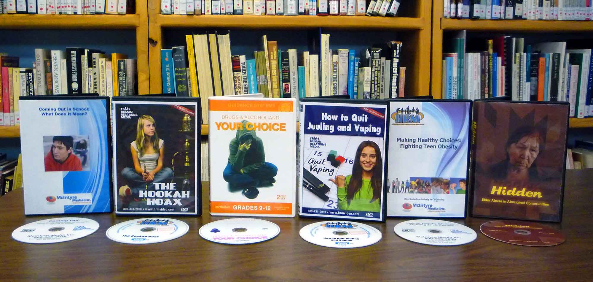 Kahnawake Library Reccovery Dvds